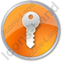 Security Circle Orange Icon, PNG/ICO, 128x128