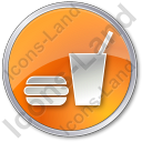 SnackBar Circle Orange Icon, PNG/ICO, 128x128