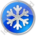 Snow Circle Blue Icon
