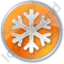 Snow Circle Orange Icon, PNG/ICO, 128x128