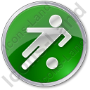 Soccer Circle Green Icon, PNG/ICO, 128x128