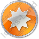Star Circle Orange Icon