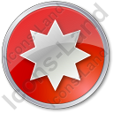 Star Circle Red Icon