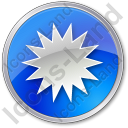 Sunny Circle Blue Icon