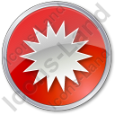Sunny Circle Red Icon