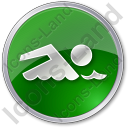 Swimming Circle Green Icon, PNG/ICO, 128x128