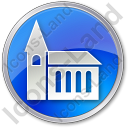Temple Circle Blue Icon