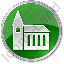 Temple Circle Green Icon