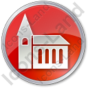 Temple Circle Red Icon