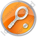 Tennis Racket Circle Orange Icon, PNG/ICO, 128x128