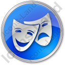 Theater Circle Blue Icon
