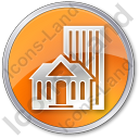 Town Circle Orange Icon, PNG/ICO, 128x128