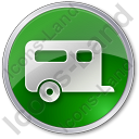 Trailer Circle Green Icon, PNG/ICO, 128x128