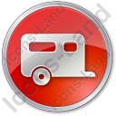 Trailer Circle Red Icon, PNG/ICO, 128x128