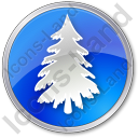 Tree Spruce Circle Blue Icon