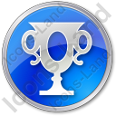 Trophy Circle Blue Icon, PNG/ICO, 128x128