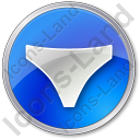 Underwear Circle Blue Icon, PNG/ICO, 128x128