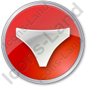 Underwear Circle Red Icon