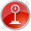 Weight Circle Red Icon, PNG/ICO, 128x128