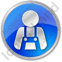 Worker Circle Blue Icon
