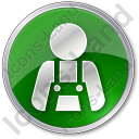 Worker Circle Green Icon, PNG/ICO, 128x128