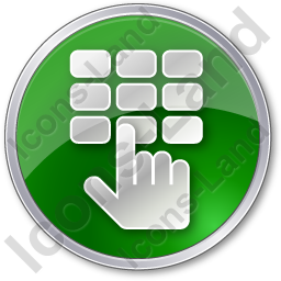 ATM Keypad Circle Green Icon, PNG/ICO, 256x256