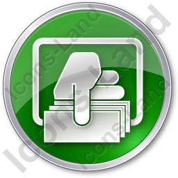 ATM Money Out Circle Green Icon, PNG/ICO, 256x256