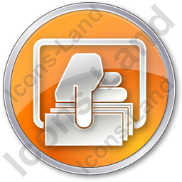 ATM Money Out Circle Orange Icon, PNG/ICO, 256x256