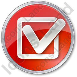 Approved Circle Red Icon, PNG/ICO, 256x256