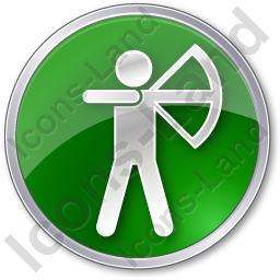 Archery Circle Green Icon, PNG/ICO, 256x256