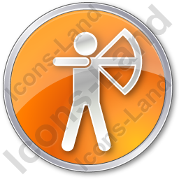Archery Circle Orange Icon, PNG/ICO, 256x256