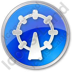 Attraction Circle Blue Icon
