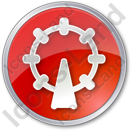 Attraction Circle Red Icon