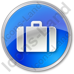Baggage Circle Blue Icon, PNG/ICO, 256x256