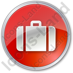 Baggage Circle Red Icon, PNG/ICO, 256x256