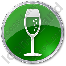 Bar Champagne Circle Green Icon, PNG/ICO, 256x256