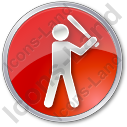 Baseball Circle Red Icon, PNG/ICO, 256x256