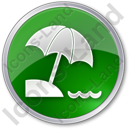 Beach Circle Green Icon
