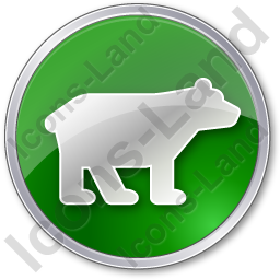 Bear Circle Green Icon