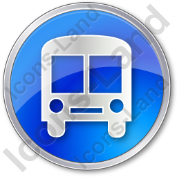 BusStation Circle Blue Icon