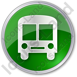 BusStation Circle Green Icon, PNG/ICO, 256x256