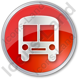 BusStation Circle Red Icon