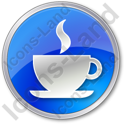 Cafe Circle Blue Icon