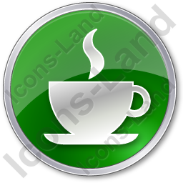 Cafe Circle Green Icon