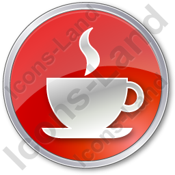 Cafe Circle Red Icon