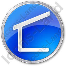 Camping Lean-to Circle Blue Icon, PNG/ICO, 256x256