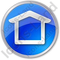 Camping Shelter Circle Blue Icon, PNG/ICO, 256x256