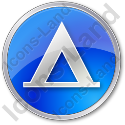 Camping Tipi Circle Blue Icon