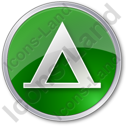 Camping Tipi Circle Green Icon, PNG/ICO, 256x256