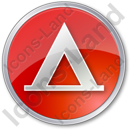 Camping Tipi Circle Red Icon